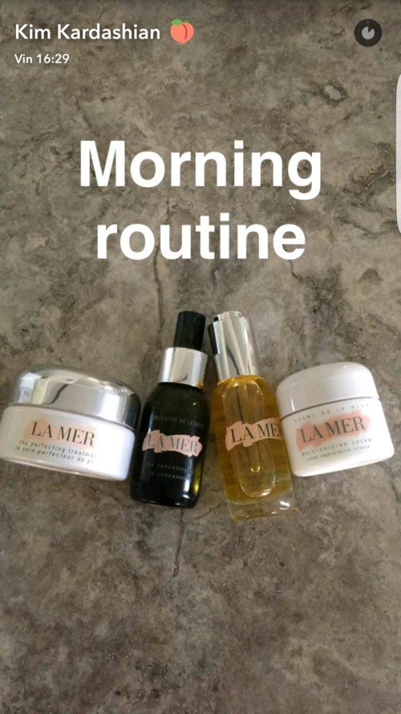 morning-routine-kim-kardashian-snapchat-la-mer